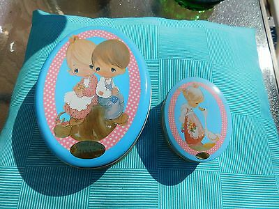 Pair of Precious Moments  Tins  1995 Limited  Edition