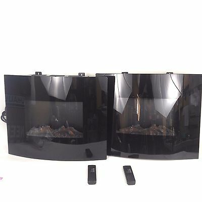 "(PAIR) 30"" Electric Flame 1500W Wall Mount Fireplace Heater w/ Remote Control"