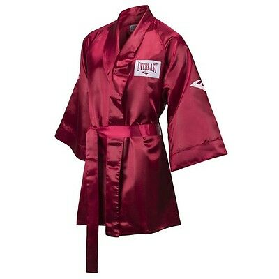 New Everlast Boxing Satin Robe 3/4 Fingertip Length Size: Medium Color: Red