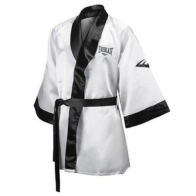 New Everlast Boxing Satin Robe 3/4 Fingertip Length Size: X-Large Color: White