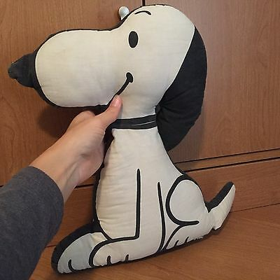 Vintage 1963 Floppy Snoopy Plush Pillow United Feature Syndicate Peanuts