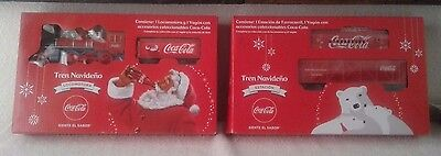 Coca Cola, Collectible, Battery Operated Christmas Train w/track Set 1 & 2