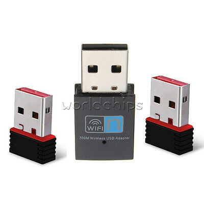 Mini USB 150/300Mbps WiFi Wireless Adapter Dongle Network LAN Card 802.11n/g/b