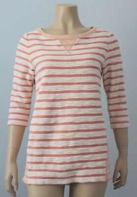 GAP Maternity French Terry Peach Striped Sweatshirt, Size Small S