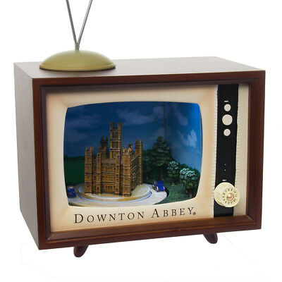 Downton Abbey Musical TV Set Animated Electronic Music Box Vintage Television