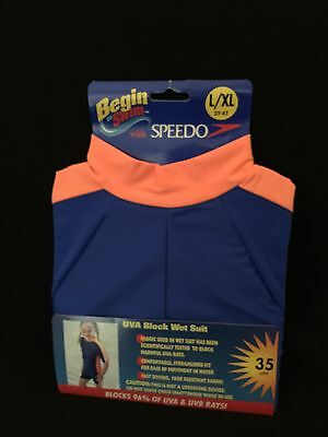 Begin To Swim With Speedo Uva Block Wet Suit - Toddlers L/xl 2T-4T - New