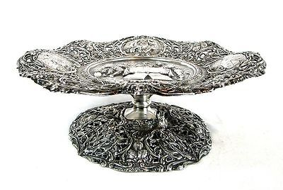 Rare Vintage Ornate Silverplate Serving Tray / Cake Stand