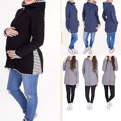 Fashion Baby Carrier Jacket Kangaroo Maternity Outerwear Coat Pregnant Women