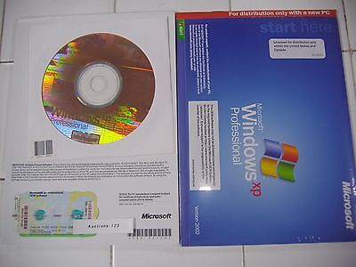MICROSOFT WINDOWS XP PROFESSIONAL w/SP3 OPERATING SYSTEM MS WIN PRO=NEW SEALED=