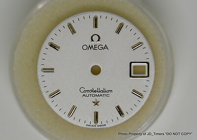 NEW LADIES OMEGA CONSTELLATION AUTOMATIC Y/GOLD TEXTURED DIAL 20mm PART # 3066