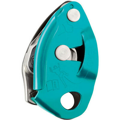 Petzl Grigri 2 Unisex Climbing Gear Belay Device - Turquoise One Size