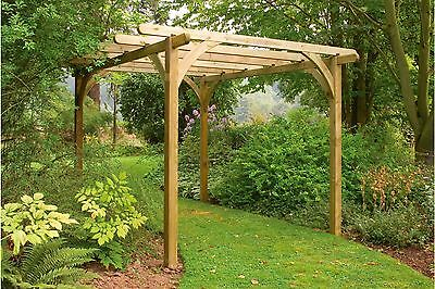 Forest Ultima Wooden Garden Pergola - 9 x 9ft. From the Argos Shop on ebay