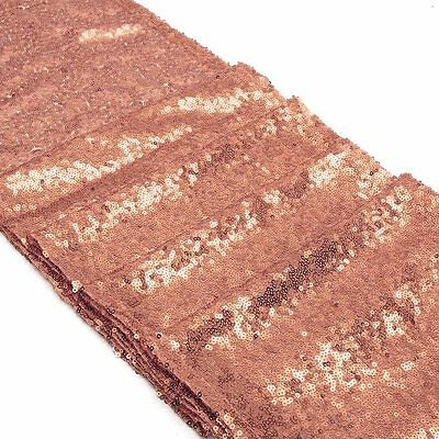180x30cm ROSE GOLD SEQUIN TABLE RUNNER TABLECLOTH WEDDING CHRISTMAS PARTY