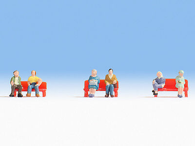 NOCH 44203 Z Scale Gauge 1:220 Sitting People 6 figures WITHOUT BENCHES NEW 2017