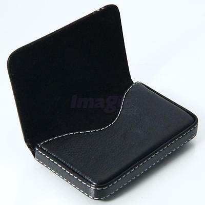 Individuality Black Pocket PU Leather Business ID Credit Card Holder Case Wallet