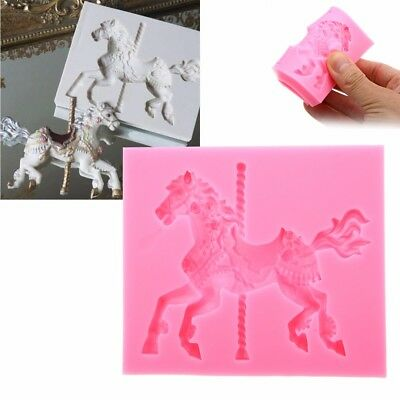 Carousel Horse Silicone Fondant Cake Mold Emboss Cutters Sugar Craft Mould Tools
