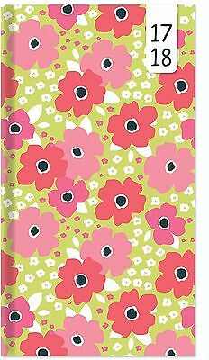 Floral Pink 2017-2018 Slim Long Academic Year Week to View Diary Teacher Student
