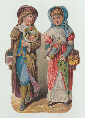 Large Victorian Trade Card, H. O'Neill & Co., Fashion, Late 1800's