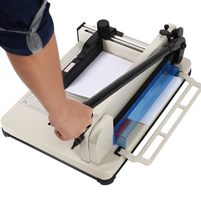 """17"""" Manual Guillotine Paper Cutter Trimmer Machine Commercial Heavy Duty A4, US"""