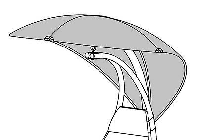 Helicopter Hammock Swing Chair Replacement Cover Canopy In Black Or Beige