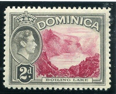 DOMINICA;  1938 early GVI issue fine Mint hinged 2d. value