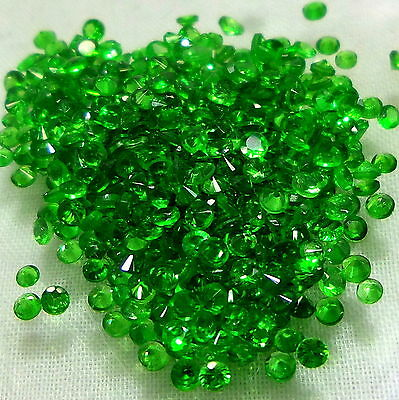 All Calibrated Diamond Cut Natural Top Emerald Green Tsavorite Garnet Gemsstones