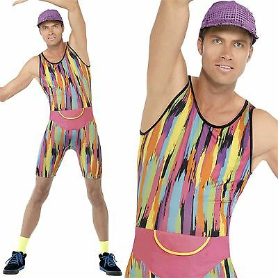 Adult Mens Mr Energizer 80s 90s Fitness Motivator Retro Icon Fancy Dress Costume