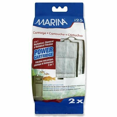 Marina I25 Replacement Cartridge A134 (Pack of Two) Aquarium Tank Filter