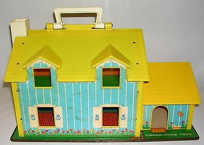 Fisher Price original Play Family House 952 70/80er Jahre Haus mit Garage