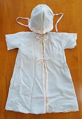 Vintage Late '40's Hollywood Needlecraft Infant Cover Up And Cap
