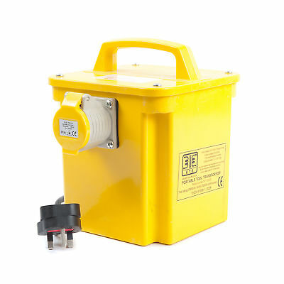 PT 240/110V (240V to 110V) Portable Tool Transformer 1ph 2 Socket 1.0kVA (1kVA)