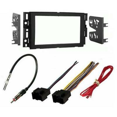 Aftermarket Radio Stereo Double Din Dash Kit Bezel Wire Harness Antenna Adapter