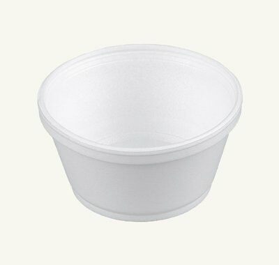 Dart 8SJ20, 8-Oz White Foam Food Container with Vented Lid, CASE OF 100