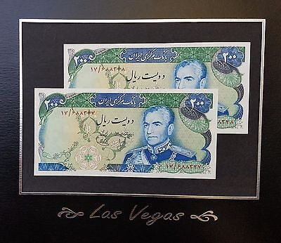 Twelfth series : Portrait of Mohammad Reza Pahlavi Superb Banknotes