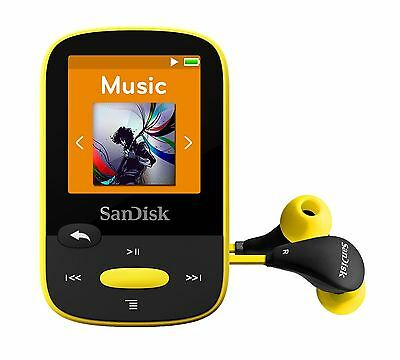 SanDisk Clip Sport MP3 Player 8GB - Yellow
