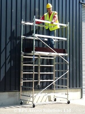 3.8m Trade Quick Erect Folding Aluminium Scaffold Tower/Towers Next Day Delivery