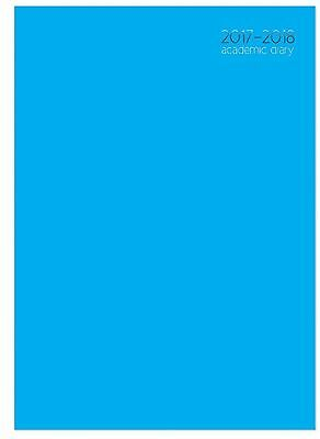Blue 2017 2018 Academic Mid Year A4 Week To View Hardback Student Teacher Diary