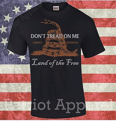 Don't Tread On Me Gadsden American Flag Conservative T-Shirt Yellow Dont Dtom