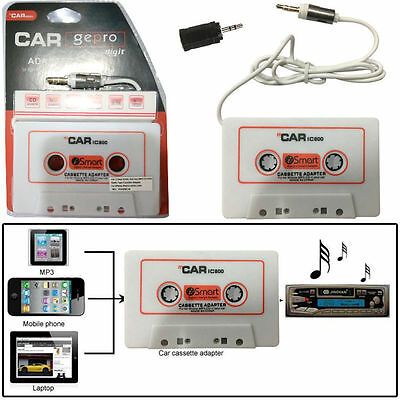 Car 3.5mm Audio Jack Aux MP3 CD DVD Radio Tape Cassette Adapter For iPhone -CT-W