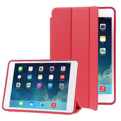 CUSTODIA Integrale per Apple iPad AIR 2 9.7 ROSSO SMART COVER SUPPORTO+Pellicola