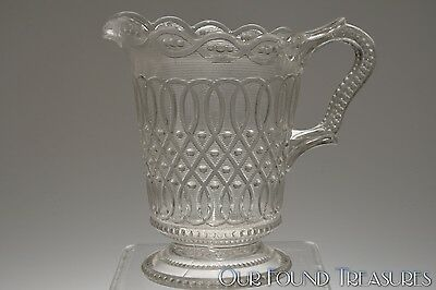 SCARCE ca. 1895 MAYPOLE by National Glass (McKee) CRYSTAL Cream Pitcher