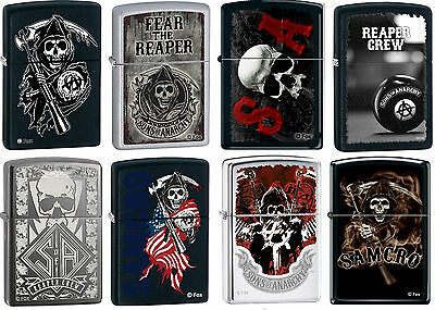 Zippo SOA Sons of Anarchy SOA SAMCRO 8 Lighter Set Rare