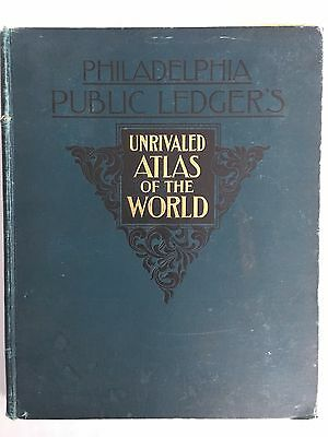1899 Philadelphia Public Ledger's Unrivaled Atlas of the World Rand McNally Maps