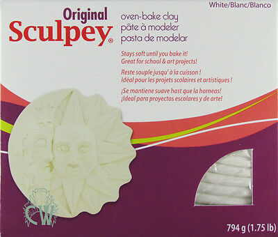 Large White Sculpey Polymer Clay 794g Block.Oven Bake Clay for Art & Craft.