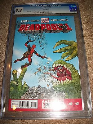 Deadpool #1 CGC 9.8 Investment Grade Key Comic Book New Movie 2 Cable Marvel Now