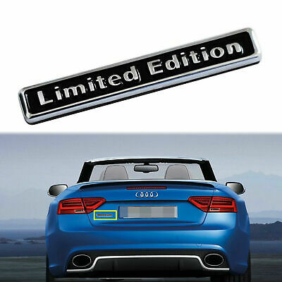 1x 3D Black Metal Limited Edition Car Trunk Rear Lid Fender Emblem Badge Sticker