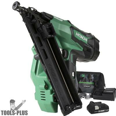 "2-1/2"" 18V Brushless Lithium Ion 15Ga Angled Finish Nailer Hitachi NT1865DMA New"