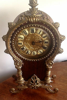 Early English Antique Mantel Clock by the British United Clock Co Ltd c 1895