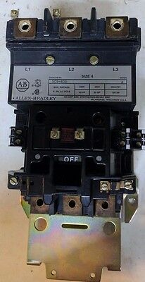 USED Allen Bradley Series A AB 509-EOD Size 4 Contactor 120V Coil 135A 100 HP