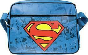 Shoulder Bag ** SUPERMAN LOGO MESSENGER BAG RETRO SCHOOL & GYM ** RBSM1